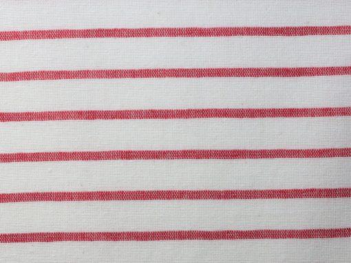 68.20 Weiß und rot gestreifter Chambray